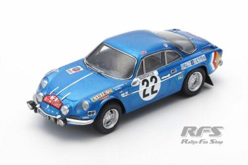 Alpine Renault A110 Rallye Monte Carlo 1971 Jean-Claude Andruet 1:43 Spark 6110