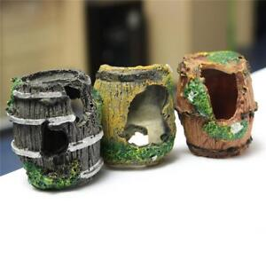 Fish-Tank-Aquarium-Design-Barrel-Resin-Ornament-Cave-Furnishing-Landscaping-Deco