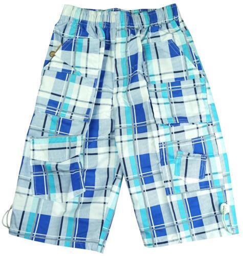 Boys Shorts 2019 Modern Checked Combat Pocket Summer Board Short 3 to 12 Years