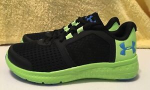 sports shoes 3b34f 15906 Details about Under Armour UA Bps Micro G Fuel Rn Sneaker Shoe Boy/Girls  Youth Sizes Black NEW
