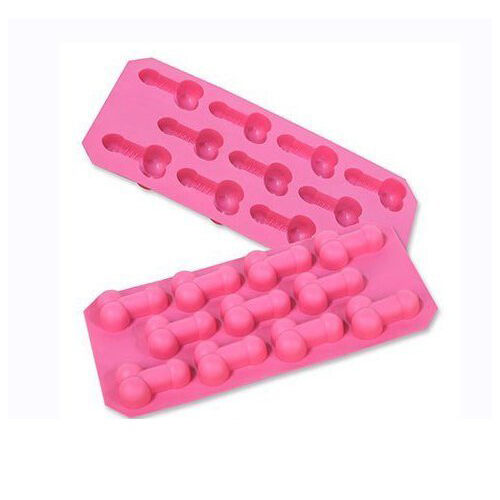 Pink Willie Ice Cube Mold Silicone 11 Cube Tray Bachelorette FREE U.S Ship NEW