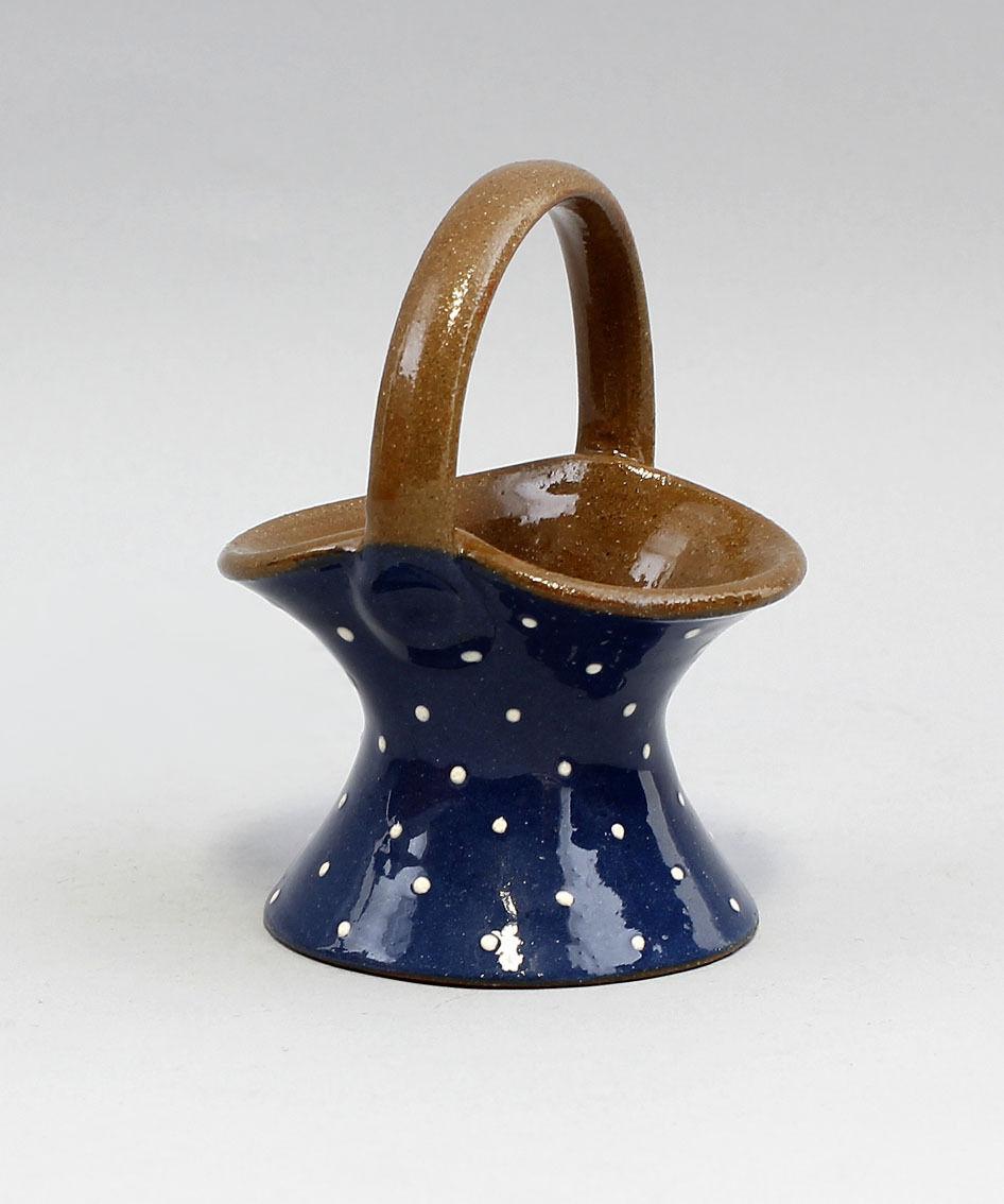 99845435 Keramik Korb Leuchter Henkel Bürgel Thüringen 11x8cm | Bestellungen Sind Willkommen