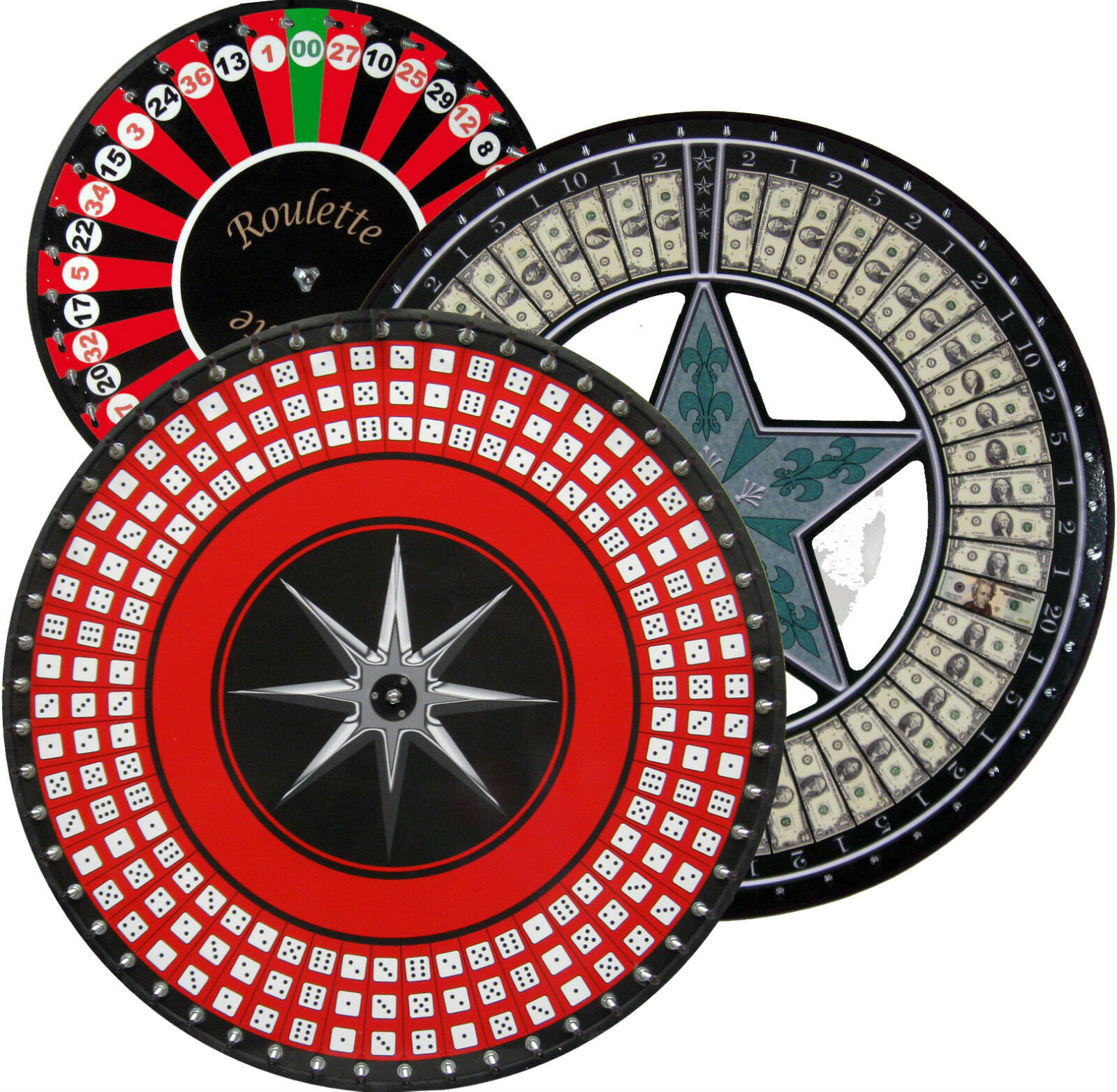 36 DICE WHEEL, GAME WHEEL, PRIZE PRIZE PRIZE WHEEL  TALL