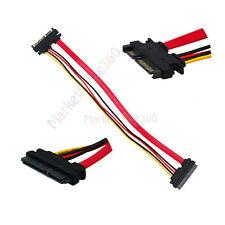 Brand New 12 inch SATA 22P Male Plug to SATA 7 + 15 Pin Female Cable Extension