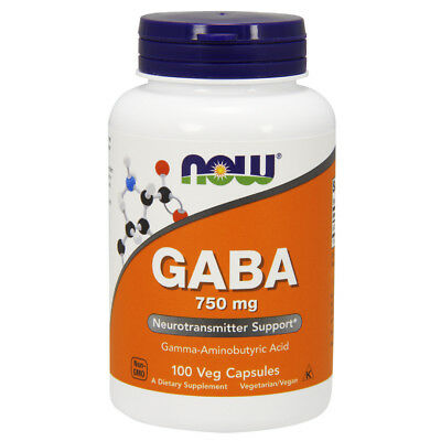 Now Foods GABA 750mg - 100 caps - Calm & Relax - RELIEVE STRESS