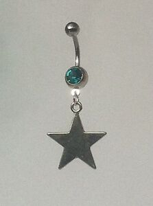 STAR-Belly-Bar-dangle-Choice-of-colour-UK-made-FREE-POST