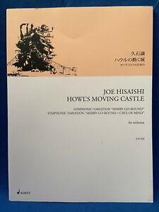USED Joe Hisaishi Howl/'s Moving Castle Orchestra Symphonic Sheet Music Japan