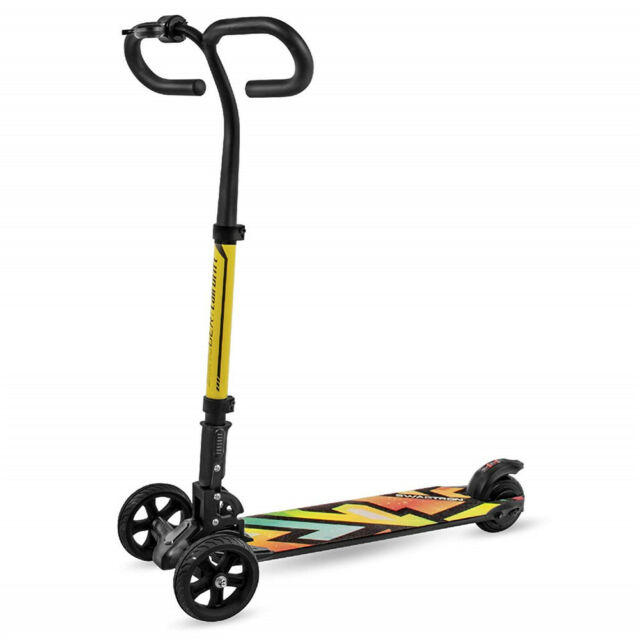 Stand Up Electric Scooter >> Refurbished Swagtron Cali Drift Three Wheel Folding Electric Scooter 250w Motor
