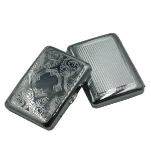 1PC-Vintage-Stainless-Steel-Metal-Retro-Cigarette-Case-holds-16-Cigarettes-ICO11