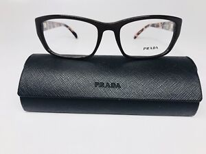 a2bc512876e9 🔸New Authentic PRADA VPR 18O DHO-101 Brown   Pink Havana Eyeglasses ...