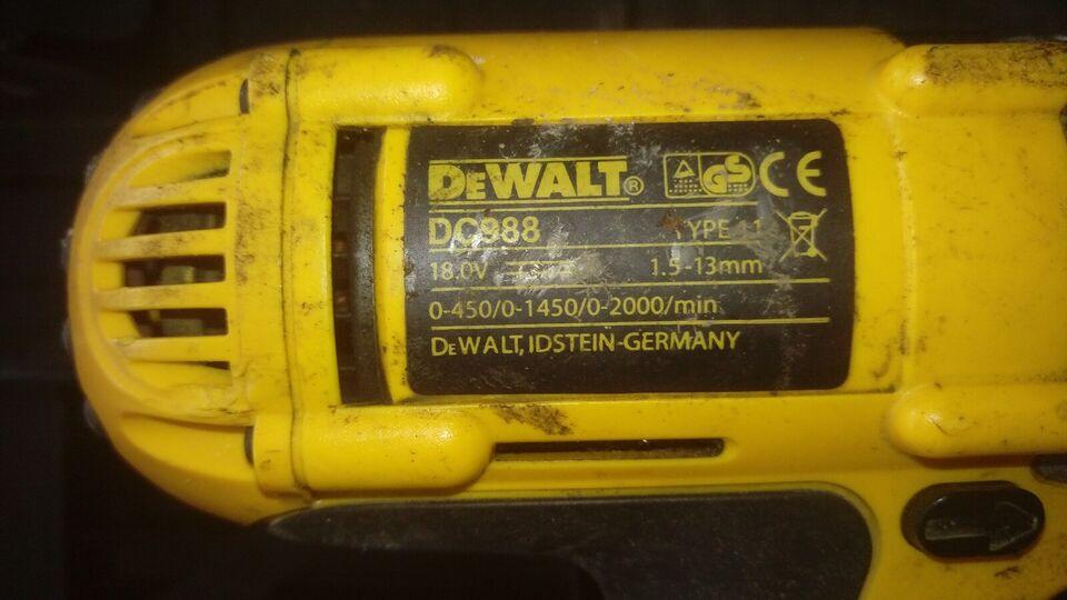 Bore- og skruemaskine, dewalt dc988