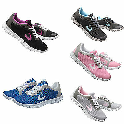Womens Ladies Sport Running Tennis Shoes Gauze Mesh Breathable Trainers Sneaker