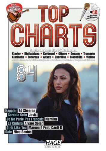 HAGE 3973 - Cordula Grün Josh /% Namika /% HAGE TOP CHARTS 84 Songbook mit CD