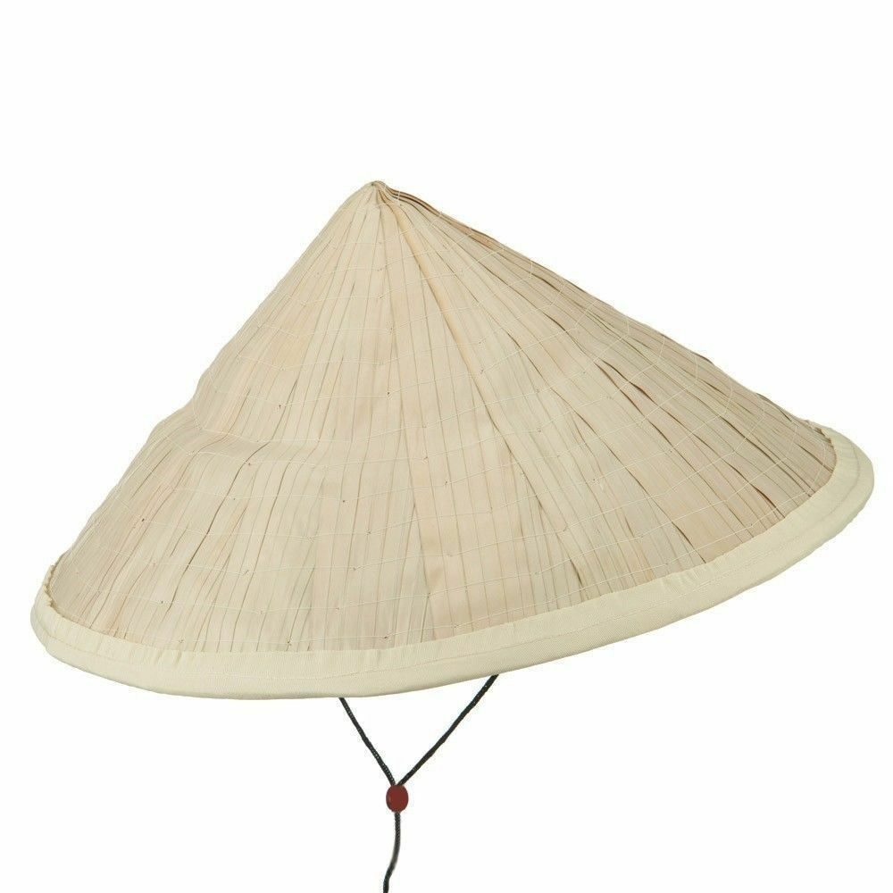 27240b42b2c Large Straw Asian Bamboo Conical Sun Hat 16