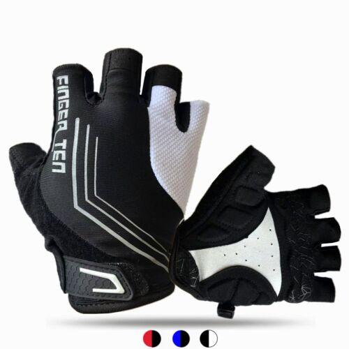 Atmungsaktiv Damen Herren Radsport Handschuhe Fahrradhandschuhe Halbfinger