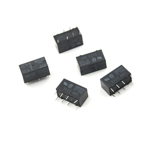 5X G5V-2 DC 12V 2A DPDT 8Pin PCB Mount Low-cost Signal Relay S/_jx