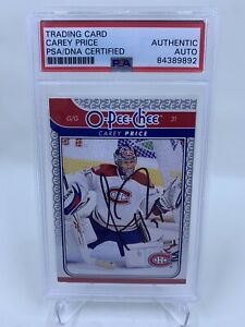 Carey Price Signed 2009 O-Pee-Chee IP Auto PSA/DNA Montreal Canadiens