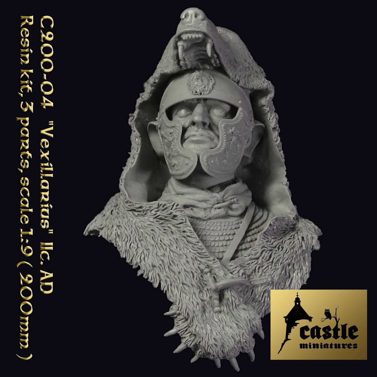 Castle Miniatures 200mm Roman Vexillarius II C AD CS200-04 Unpainted resin Bust