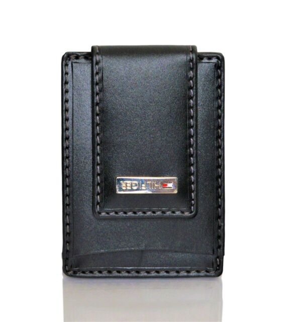 size 40 7fde3 92f74 Tommy Hilfiger Mens Leather Fordham Card Case Front Pocket Wallet With Money