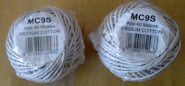 Medium Cotton String Twine Meat Packing Garden Veg Flowers 40 Metres X 2