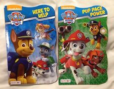 Nickelodeon Paw Patrol Board Book Set - 2 Shaped Board Books Brand New 8x5 Inch