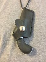 North American Arms Pug 22mag Derringer Croc Print Leather Neck Holster
