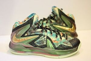 a0d3f0666d7 NIKE LEBRON 10 X CHAMPIONSHIP CELEBRATION PACK MVP GOLD PROMO SAMPLE ...