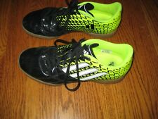 b6403324524 Adidas Mens Youth Boys Yellow Black Indoor Soccer Shoes Cleats EXCELLENT 6