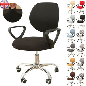 Spandex Stretch Universal Desk Task Seat Covers Stretch Rotating Chair Slipcover