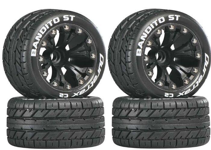 Duratrax Mounted Beito ST 2.8 Street Tires ruedas  (4) Nitro Stampede   Rustler  in cerca di agente di vendita
