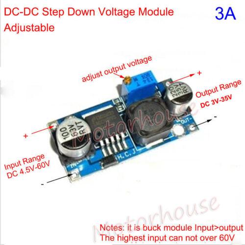 DC-DC Step Down 3.3V 5V 12V 24V 48V Adjustable Voltage Converter Buck Module Car