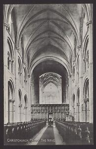 Dorset-Christchurch-Christchurch-Priory-The-Nave-Early-Printed-Postcard