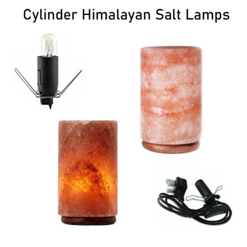 XMAS GIFT Himalayan Salt Lamps Crystal Pink Salt Cylinder Lamp Healing Ionizing
