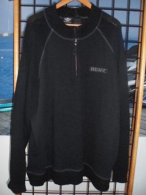 "NOS Harley Davidson Mens 1//4/"" Zip Gray Sweater 96400-13VM"