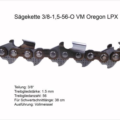 Oregon LPX Sägekette 3//8 1.5 mm 56 TG VM Ersatzkette