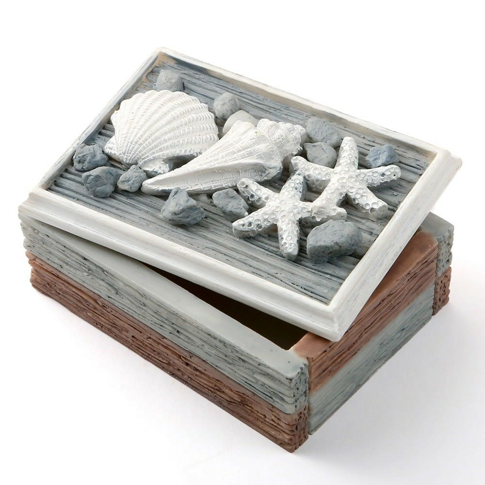 16 imitation Look Sea Shell Curio Box Beach Robe de Mariage Douche Party Favors