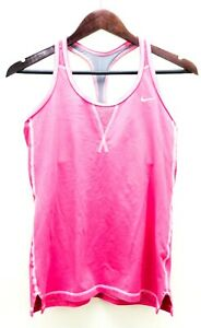 Nike-Women-039-s-Size-L-Tank-Top-Sleeveless-Shirt-Active-Wear-Charcoal-Gray-Pink