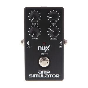 black as 4 amplifier simulator electric guitar effect pedal true bypass nux ebay. Black Bedroom Furniture Sets. Home Design Ideas