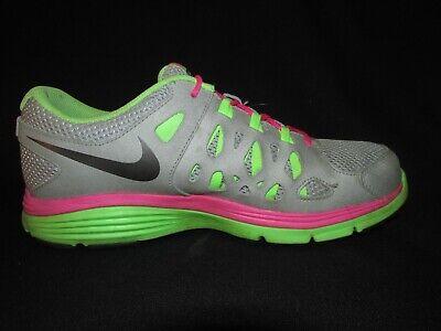 Nike Dual Fusion Run 2 Gray Green Pink Running Shoes Youth Girls 7Y | eBay