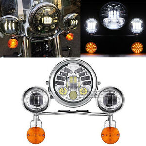Image is loading LED-Headlight-Signal-Passing-Light-For-Honda-Shadow-  sc 1 st  eBay & LED Headlight Signal Passing Light For Honda Shadow Spirit Aero Ace ...