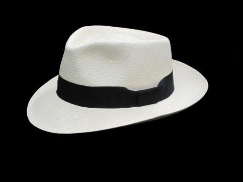 "15 weaves Men Woman Straw Fedora Genuine Panama Hat from Montecristi /""Havana/"""