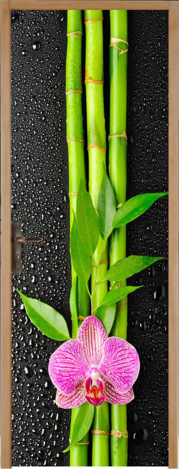 Aufkleber für Tür Flach Blaume Bambus 93x204cm Ref 311