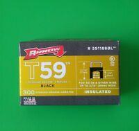 Arrow 591188bl1/4 X 5/16 Black Insulated Staples For T59 Stapler