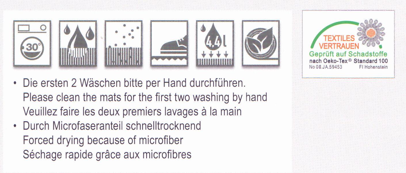 Schmutzfangmatte Astra saugaktiv 90x150 braun Fußmatte Schmutzmatte saugstark saugstark saugstark c1220b