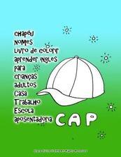 Chapéu Nomes Livro de Colorir Aprender Ingles para Crianças Adultos Casa...