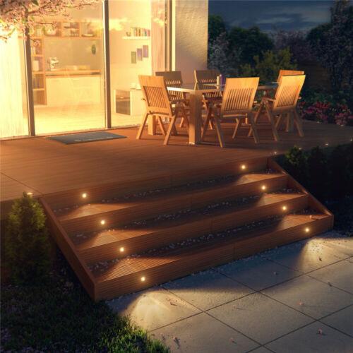 10er Set 30mm Boden Einbaustrahler LED Leuchte Außenlampe Minispot Wasserdicht