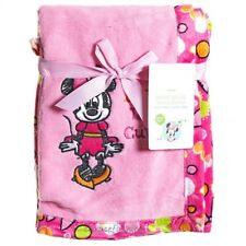NEW Disney Minnie Mouse Baby Girl Pink Luxury Plush Mink Blanket 30x45
