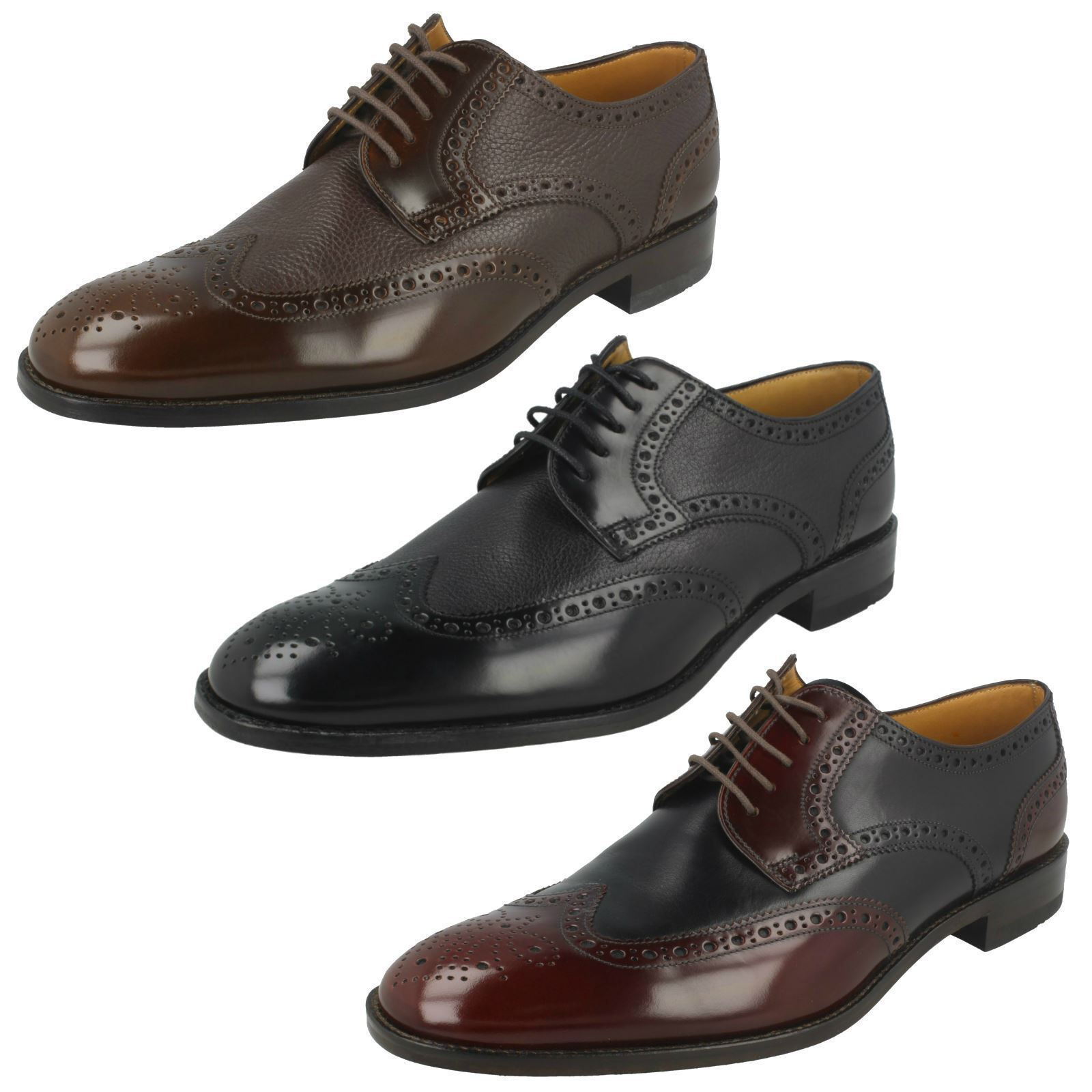 Mens Arlington  Brogue Lace up schuhe By Loakes