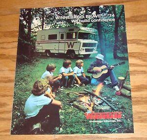 Original-1974-Winnebago-Brave-Sales-Brochure-74-D-19-D-21-D-21T