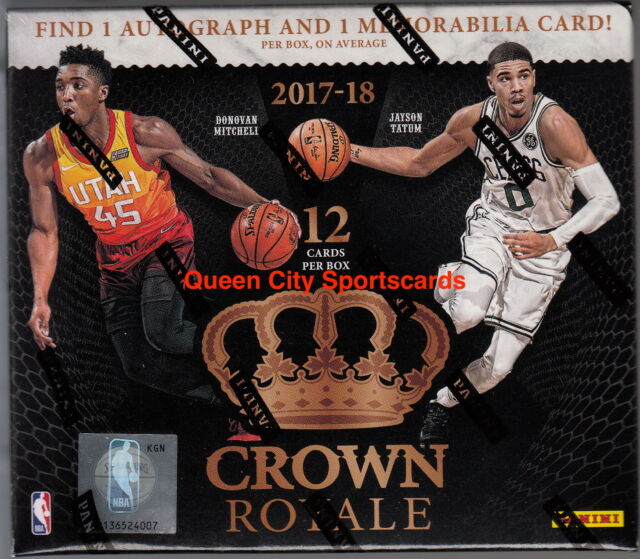 2017/18 Panini Crown Royale Basketball Factory Sealed Hobby Box